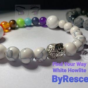 White Howlite Chakra Bracelet